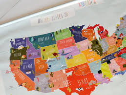 South Usa Map by Giant Canvas Wall Banner Usa Map U2013 The Lovely Wall Company