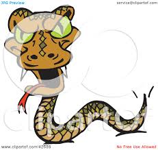 creepy clipart clipart illustration of a creepy green eyed snake with fangs by