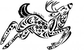 tribal deer design by deergear on deviantart
