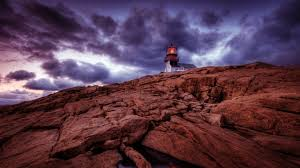 fantastic lighthouse on a rocky cliff hdr wallpaper allwallpaper