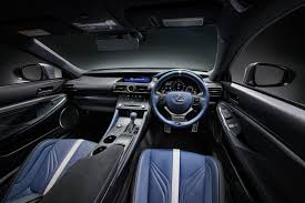 lexus rc lexus rc f and gs f get blue leather and carbon fiber trim for