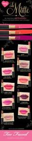 la matte swatches see all 10 shades too faced