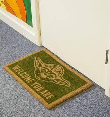Geek Doormat Wars Yoda Welcome You Are Door Mat
