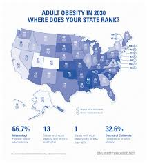 Future Map Of The United States by Obesity Statistics Map 2030 Jpg