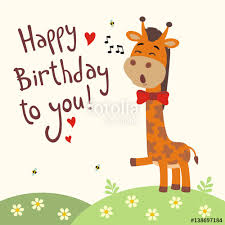 happy birthday singing cards happy birthday to you giraffe sings birthday song with gift