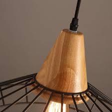 41 off on bespoke nordic iron u0026 wood pendant light onedayonly co za