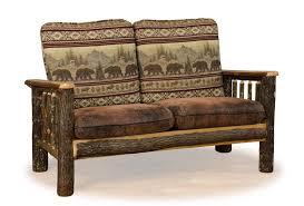 rustic sofas and loveseats log furniture log loveseat cabin upholstery rustic sofa
