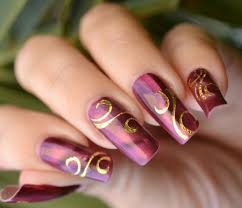 beautiful nail art design for christmas and new year
