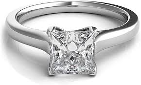solitaire princess cut engagement rings trellis princess cut solitaire engagement ring snt291