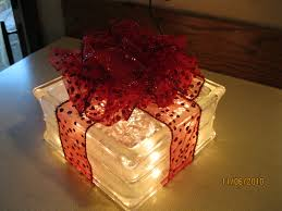 lighted glass box christmas gift crafts pinterest