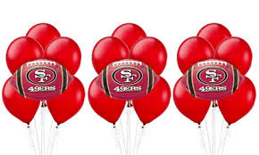 balloon delivery sf nfl san francisco 49ers party supplies party city canada