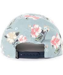 floral snapback official blackpool blue floral snapback hat zumiez