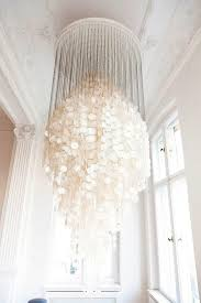 White Shell Chandelier Breaking The Of Scale Capiz Shell Chandelier Shell