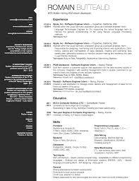 Software Developer Intern Resume Resume Statistics Free Resume Example And Writing Download