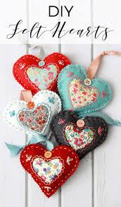 Felt Heart Christmas Ornaments Diy Felt Hearts U2014 Doodle And Stitch