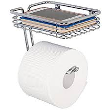 amazon com interdesign classico toilet paper holder with shelf