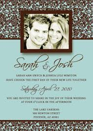 Wedding Card Invitation Templates Brown And Turquoise Wedding Invitations When I Say I Do