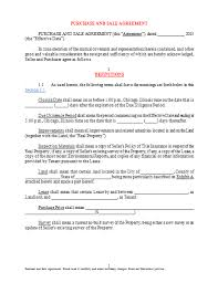 land sale purchase agreement sample for microsoft word