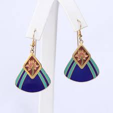 laurel burch earrings laurel burch water vintage pierced earrings flotsam from