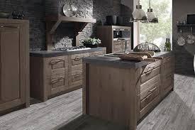 la cuisine belgique cuisine oak line de la marque schroeder de style rustique en bois