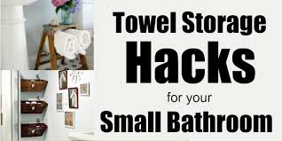 10 genius ways to get more towel storage in a small bathroom Towel Storage In Small Bathroom
