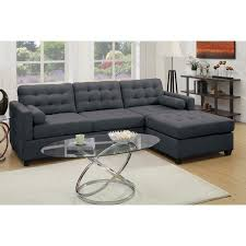 Reversible Sectional Sofa Black Reversible Sectional