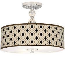 Semi Flush Ceiling Lights Halsted Warm Brass Semi Flush 15