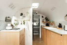 this stunning vintage airstream is a scandinavian design dream