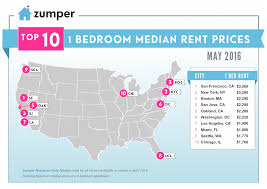 1 Bedroom Apartments Seattle by Zumper National Rent Report May 2016 The Zumper Blog