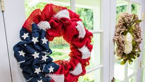 4th of july wreaths how to 4th of july burlap wreath home family hallmark channel
