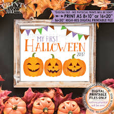 babys 1st halloween my first halloween sign baby u0027s 1st halloween photo prop jack o