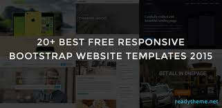 20 best free responsive bootstrap html5 templates
