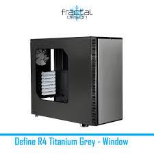 fractal design define r4 fractal design define r4 titanium grey window ascenti co th