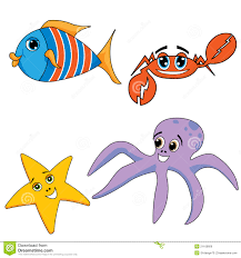 ocean animals stock vector image 50446068
