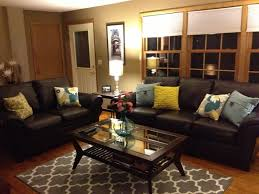 Decorating With Leather Furniture Living Room Living Room Living Room Pillows Colors Decorating With Brown