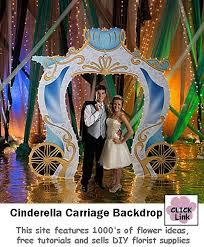 wedding entrance backdrop cinderella wedding backdrops