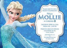 frozen invitations free ideas elsa frozen birthday invitations