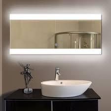 bathrooms design large bathroom vanity mirror with led lighted