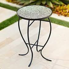 outdoor mosaic accent table mosaic outdoor tables ls plus