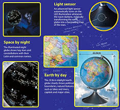 earth globes that light up brainstorm toys 2 in 1 globe earth and constellations amazon co uk