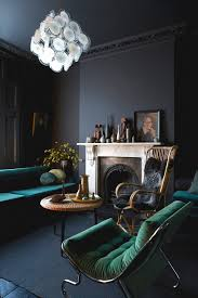 Homes Interiors And Living Black Paint Masculine Living Rooms Green Lounge And Dark Interiors