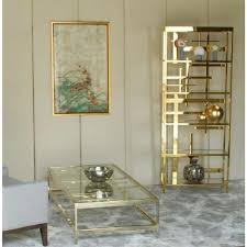 mitchell gold jules bookcase to rent as prop gold bookcase in
