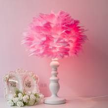Pink Table Lamps Popular Feather Bedside Table Buy Cheap Feather Bedside Table Lots
