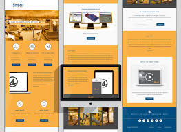 masculine professional newsletter design for pon equipment and