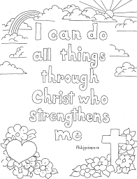 coloring pages kids adron philippians 4 13 print