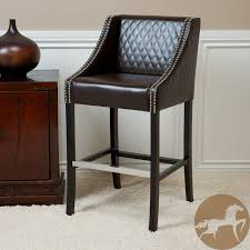 Brown Leather Bar Stool Lovable Brown Leather Bar Stool Leather Bar Stools Cheap Bar