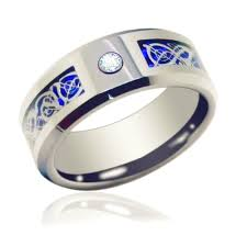 wedding bands for men queenwish 6mm 8mm blue silvering cz celtic tungsten