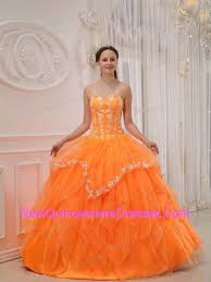 orange quinceanera dresses orange gown sweetheart organza appliques quinceanera gown 199 12