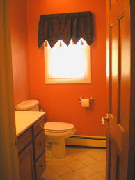amusing decorating ideas for small bathrooms chloeelan bathroom red wall theme and dark brown fabric curtain connected white latrine the floor