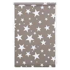graue sterne seitenzugrollo lichtblick klemmfix dekor sterne lichtschutz